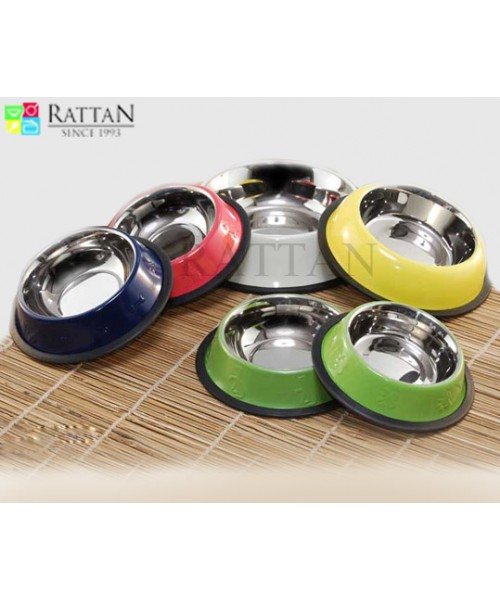 Non Tip Pet Bowls With Anti Skid Ring In Color