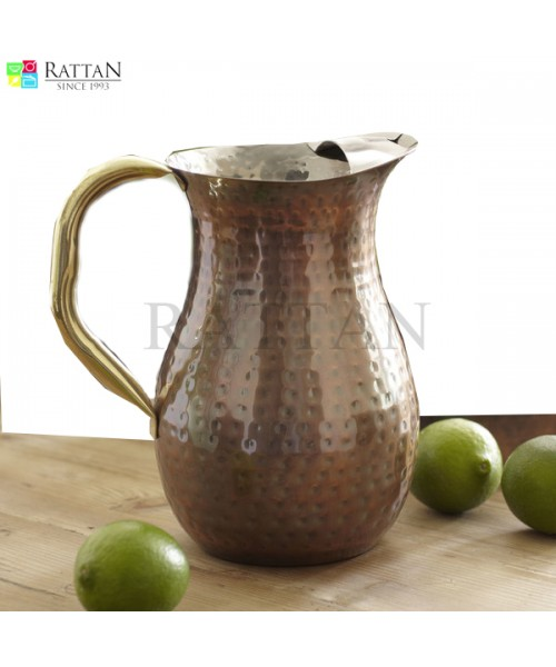 Russet Copper Jug With Ice Catcher