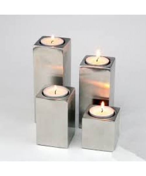 Square Metal Candle Holder