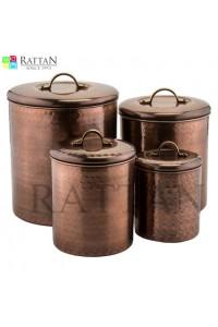 Antique Finish Copper Conister