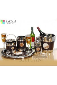 Bar Set With Faux Leather Fur Design
