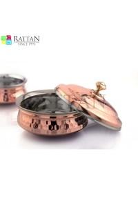 Copper Handi With Lid