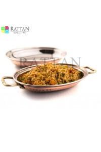 Copper Mughlai Rice Server