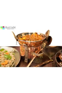 Copper & Karahi With Server Pannel  Set