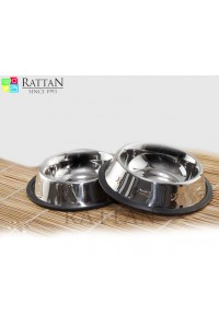 Non Tip Pet Bowls With Anti Skid Ring ( Side Embossed )