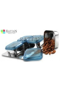 Rattan Dry Fruit Set   4 Bowl Set