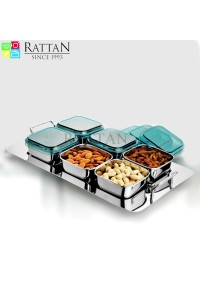 Rattan Dry Fruit Set 6