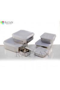 Square Storage Container W Plastic Lid