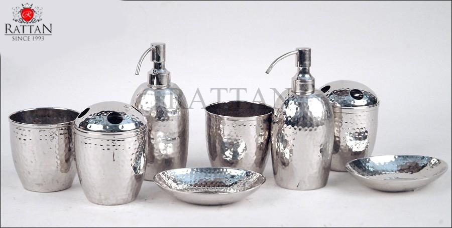 Hammered Metal Bathroom Accessories Ratta Metal Work